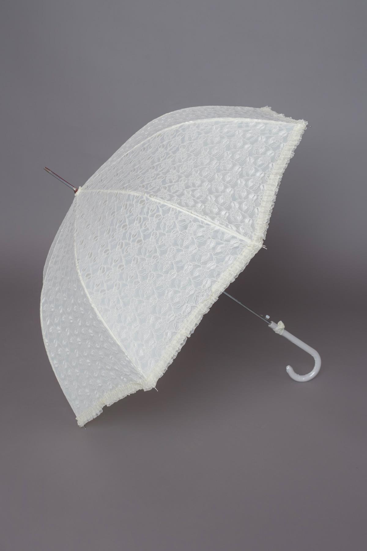 μπεζ δαντελένια ομπρέλα ρομαντική, ιδανική ακόμα και για το γάμο σας,