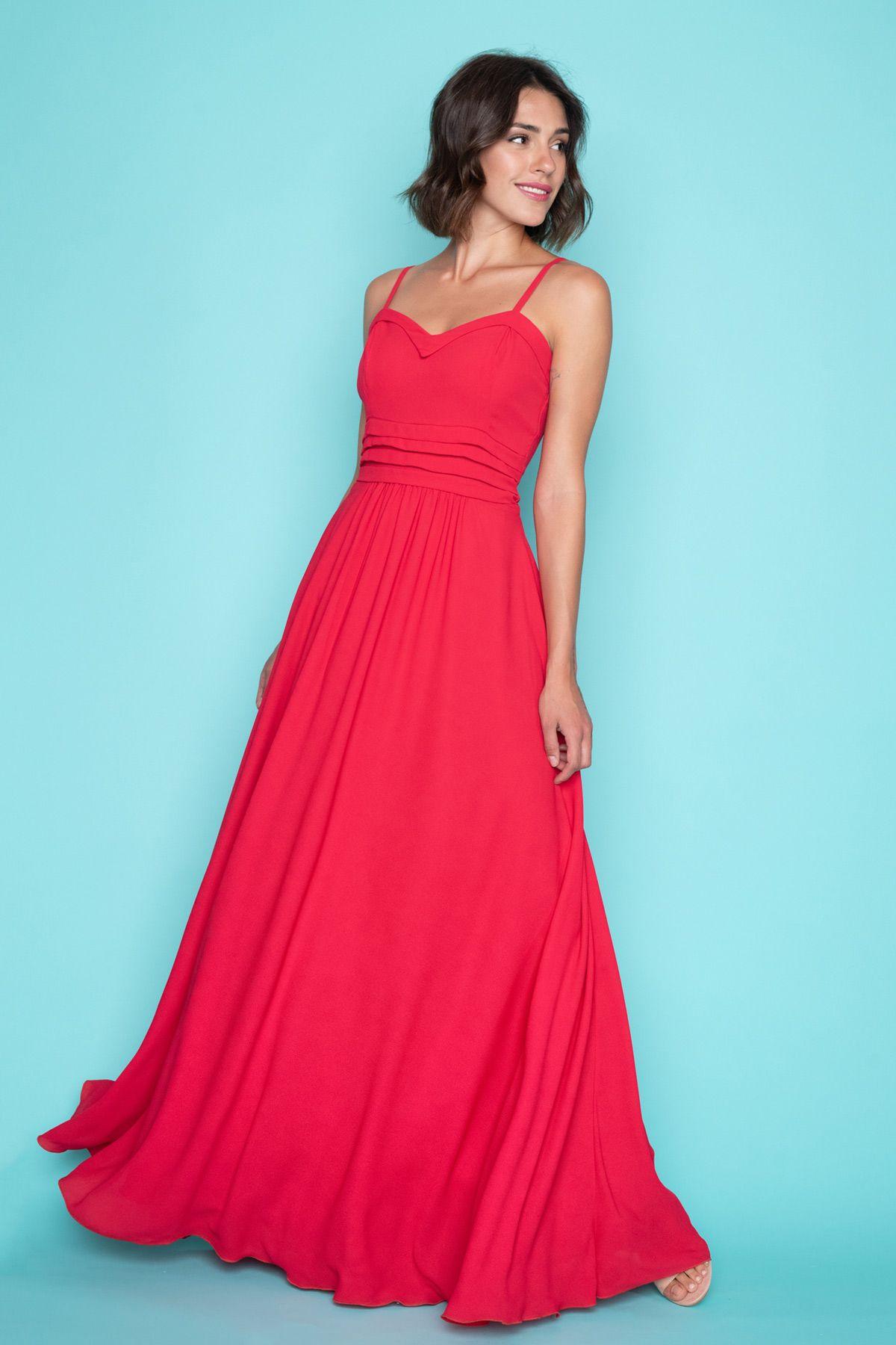 c5b525c1fec Maxi Κόκκινο Φόρεμα