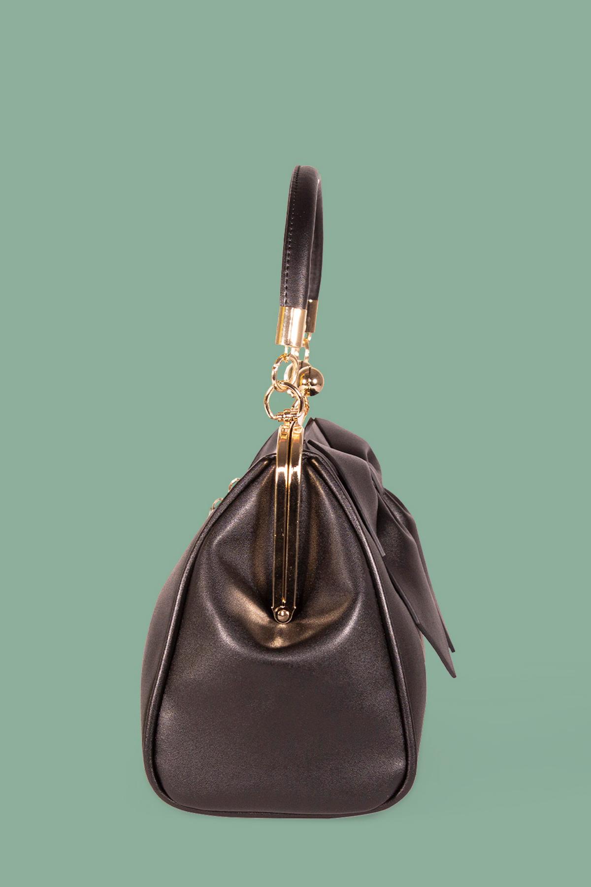 Ρετρό τσάντα με φιόγκο από συνθετικό δέρμα, με αποσπώμενο μακρύ λουράκι για τον ώμο, θα γίνει η αγαπημένη σας τσάντα για τη σεζόν!
